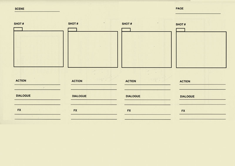 Dsource A Basic Storyboard Template Storyboard For Animation D
