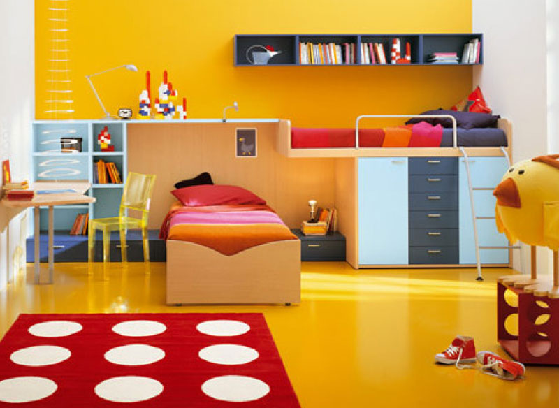 Bon A. Deep Yellow With A Combination Of Red When Applied To Large Areas Feels  Hot And Loud.
