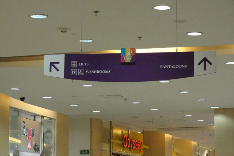 D Source Design Gallery On Signage In Shopping Mall