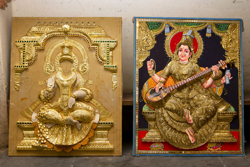 D Source Design Gallery On Thanjavur Painting The Art Of