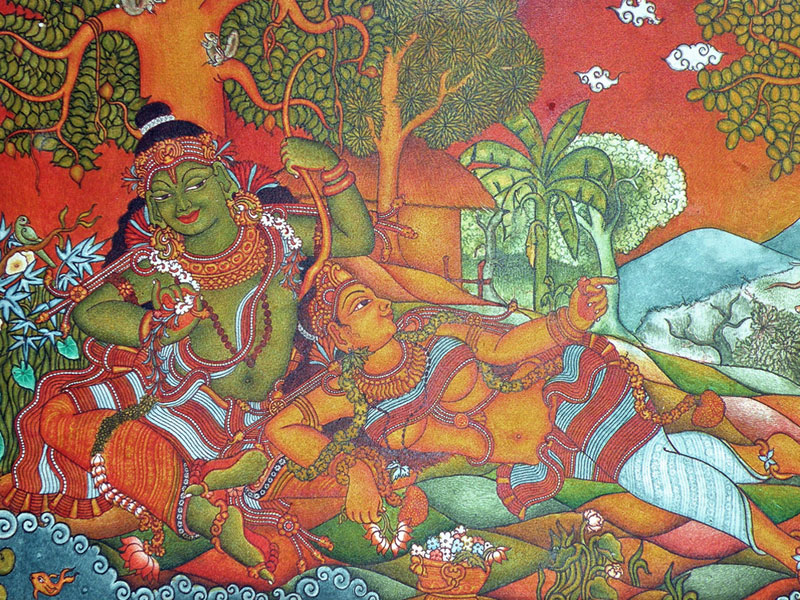 D 39 source design gallery on kerala murals the art of for Mural kerala