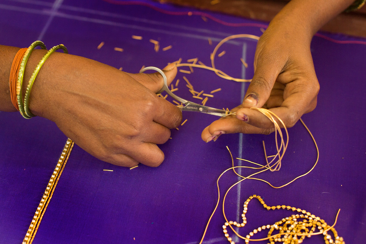D 39 source making process aari hand work andhra pradesh for Waste material hand work