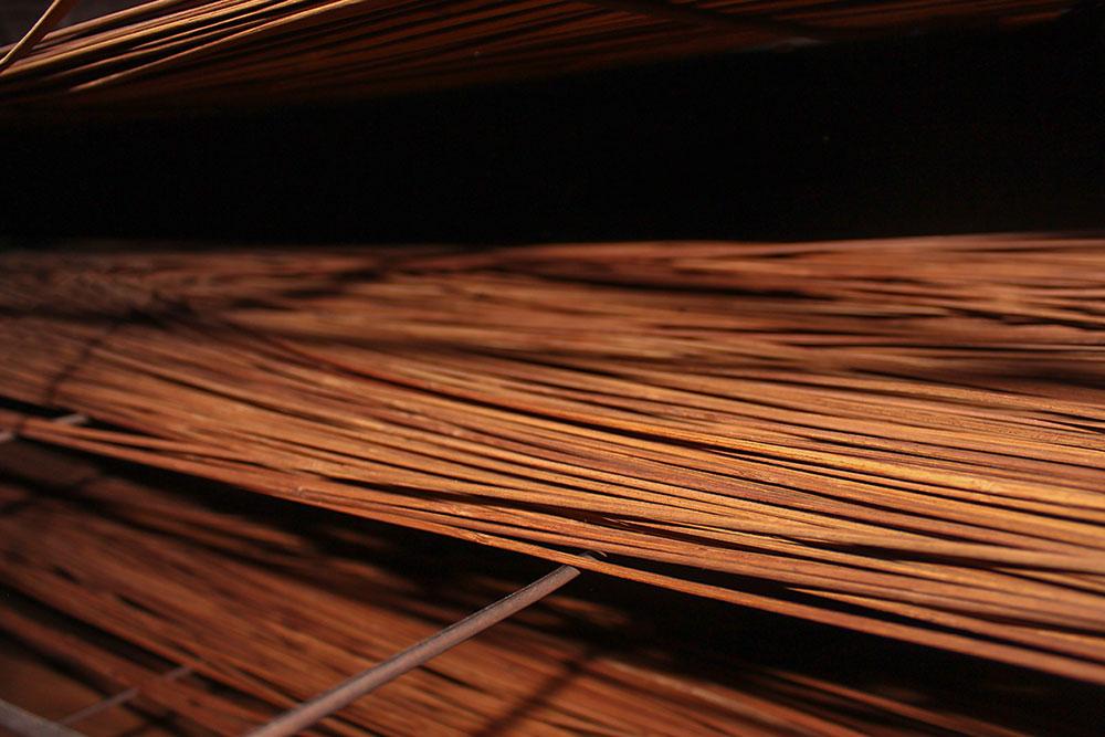 D Source Making Process Bamboo Window Mat Weaving