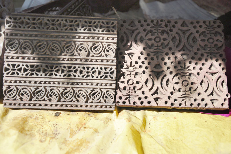 D Source Tools And Raw Materials Block Printing