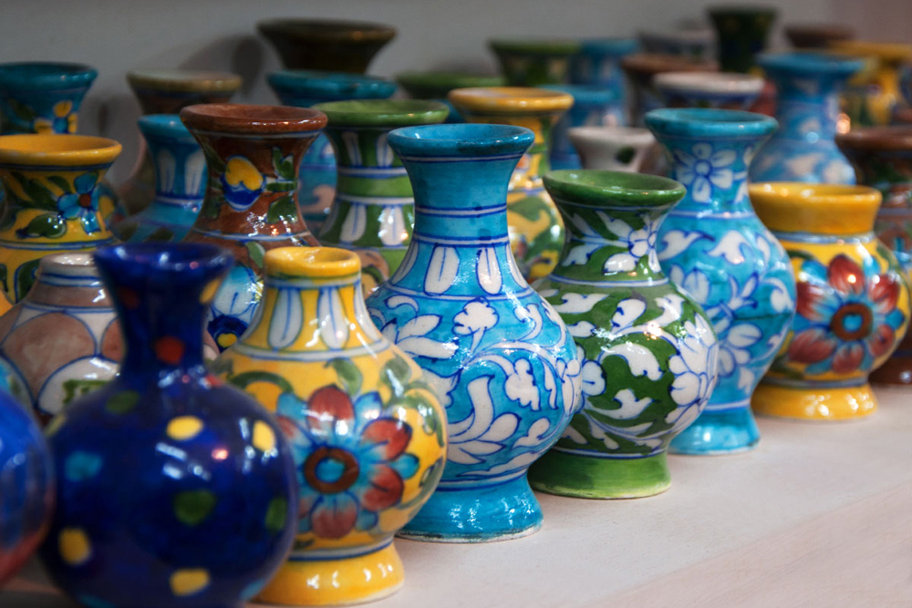 D Source Products Blue Pottery Jaipur Rajasthan D