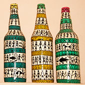Painting Bottle Art Designs