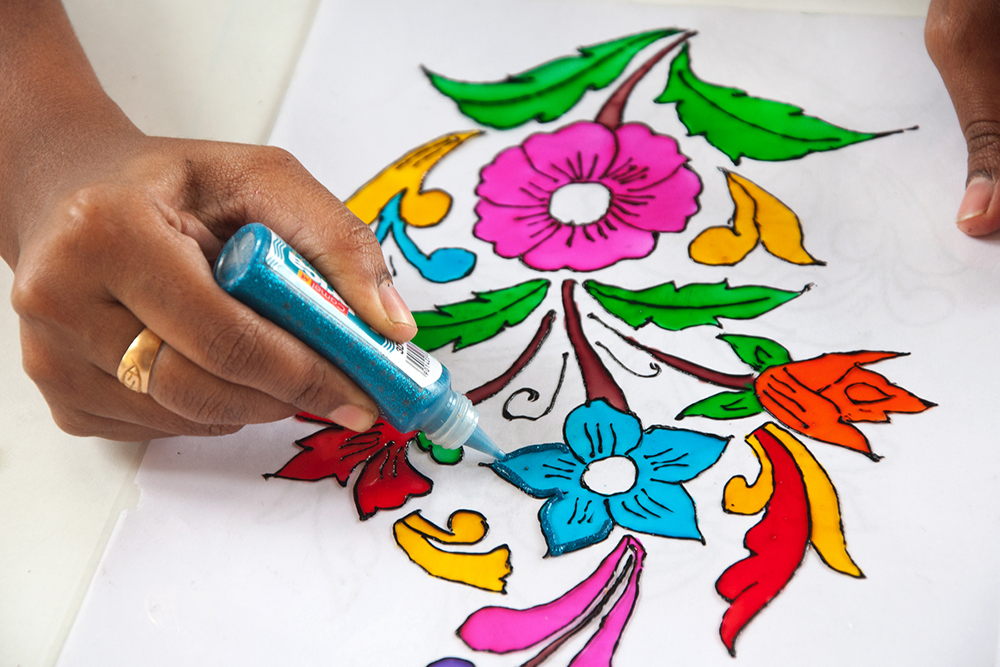 D 39 source making process glass painting vellore d for How to learn glass painting at home