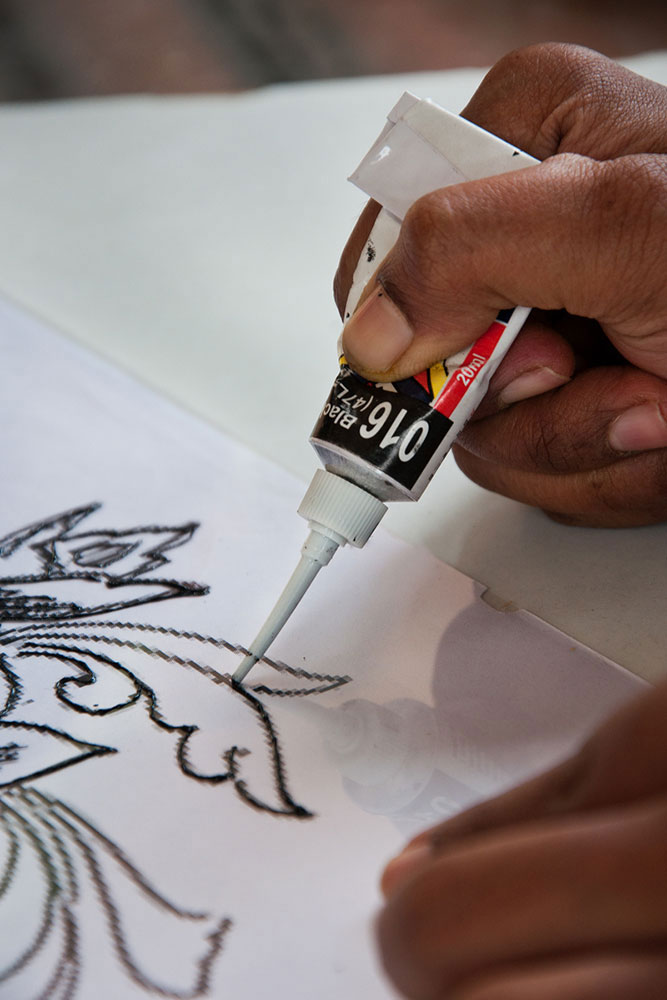 how to make glass painting on ohp sheet