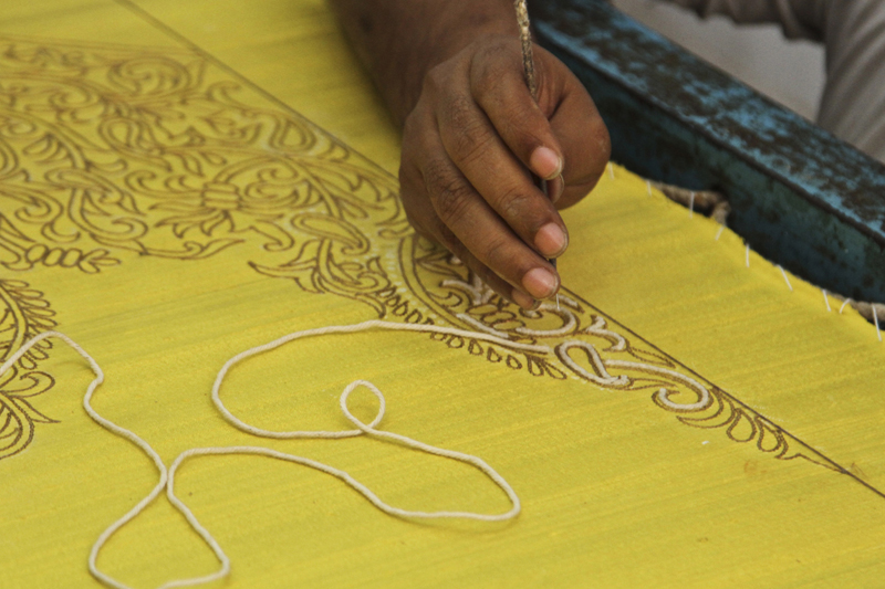 D Source Making Process Hand Embroidery Ahmedabad D