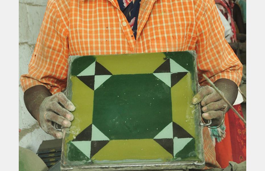 D\'source Design Gallery on Athangudi Tiles - Karaikudi - Making of ...