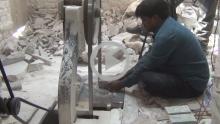 Undercut Stone Craving - Varanasi