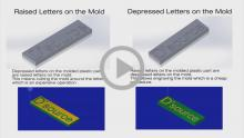 Animation Raised Depressed Letters