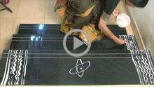 Making of Daily Pulli kolam